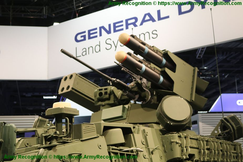 General Dynamics unveils Stryker A1 IM SHORAD air defense armored vehicle 925 002