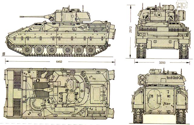 Bradley M2 Armoured Infantry Fighting Tracked Vehicle