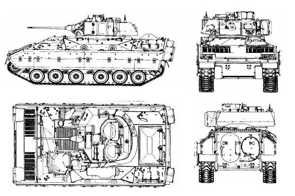 Bradley M2a1 Armoured Infantry Fighting Tracked Vehicle