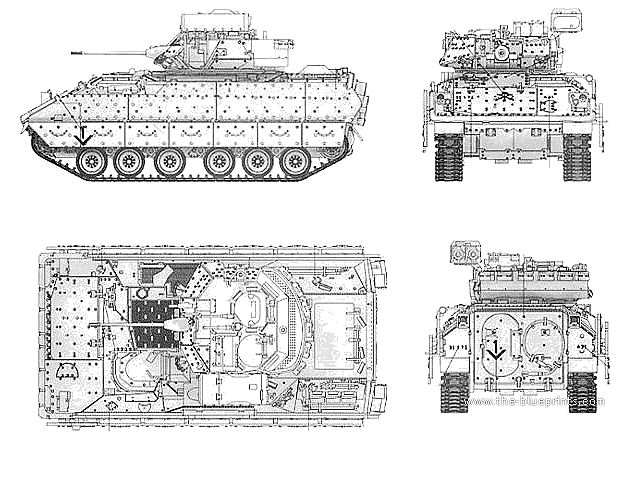 Bradley M2A2 armoured infantry fighting vehicle technical data sheet specifications information description intelligence identification pictures photos images video information US U.S. Army United States American defence industry military technology