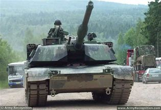 M1A1 Abrams main battle tank technical data sheet specifications information description intelligence identification pictures photos images video information U.S. Army United States American defence industry military technology