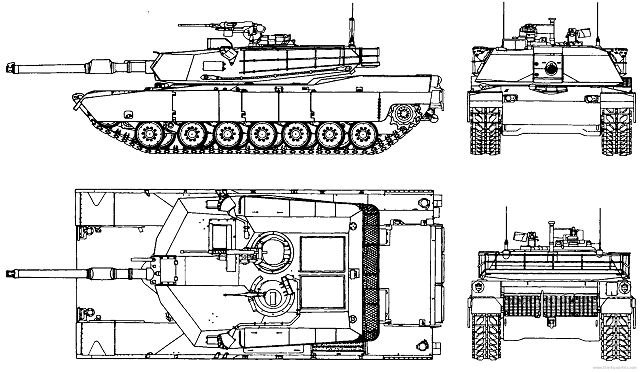 m1a1 abrams main battle tank technical data sheet