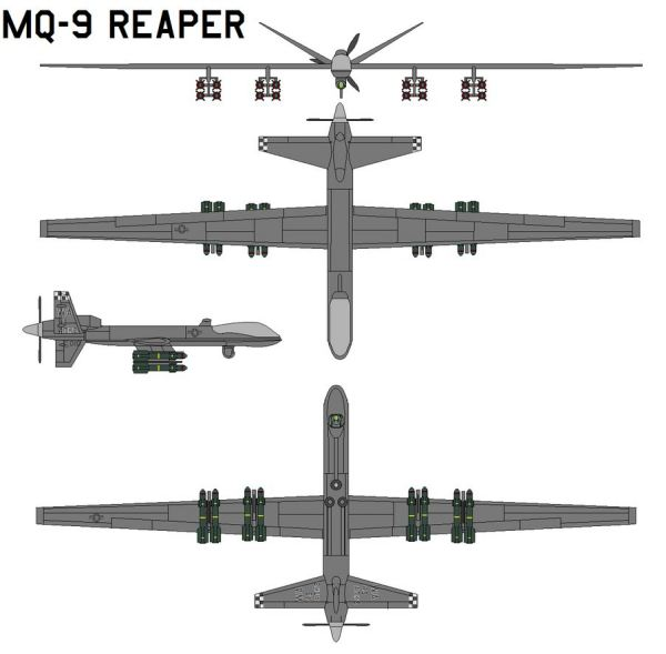 MQ-9 Reaper Predator B unmanned aircraft system UAS data sheet specifications information description intelligence identification pictures photos images US Army United States American defence industry Law enforcement homeland security vehicle