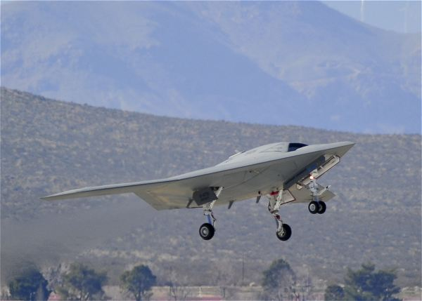 The Northrop Grumman-built U.S. Navy X-47B Unmanned Combat Air System Demonstration (UCAS-D) aircraft successfully completed its historic first flight at Edwards Air Force Base, Calif.