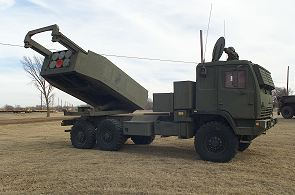 M142 HIMARS high mobility multiple artillery rocket launcher system data sheet description information specifications intelligence identification pictures photos images US Army United States American defense military Lockeed Martin FMTV 6x6 truck