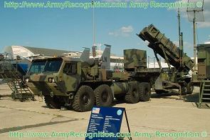 M901 launching station launcher unit Patriot M983 data sheet specifications information description intelligence identification pictures photos images US Army United States American truck HEMTT M860 semi-trailer