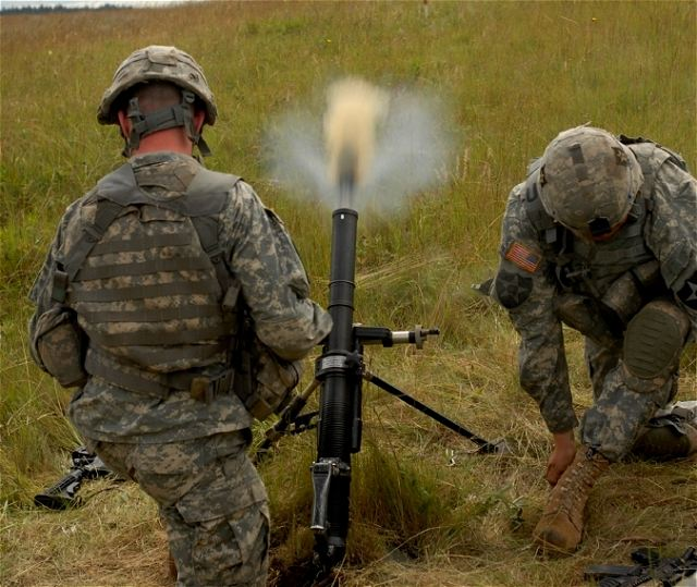 Infantry Fire Team : U s army soldiers conducted mortar live fire