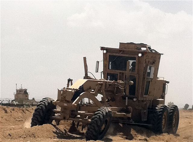 120M MG Motor Grader military engineer protected vehicle