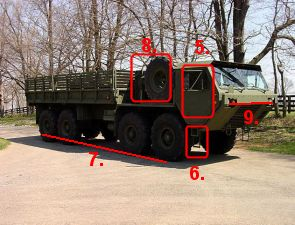 HEMTT M977 A2 Oshkosh heavy expanded mobility tactical cargo truck US army United States description identification pictures data sheet photos images camion de transport de fret cargo fiche technique armée américaine Etats-Unis