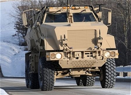 Caiman MTV MRAP BAE Systems multi theater mine resistant protected vehicle United States American front side view 450 001