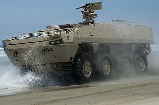 Havoc APC 8x8 Modular Armoured Personnel Carrier vehicle technical data sheet specifications information description intelligence identification pictures photos images video information US Army United States American Lockheed Martin Defense defence industry military technology