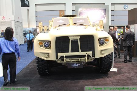 L ATV light wheeled combat vehicle United States American defence industry front view 450 001