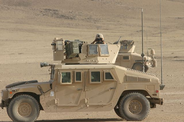 M1114 up armored hmmwv humvee armament carrier armour kit technical data sheet specifications