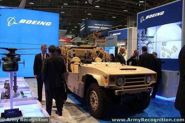 Boeing Phantom Badger ITV V-22 Internally Transportable Vehicle for Special Forces on display during AUSA 2013. Picture: Army Recognition