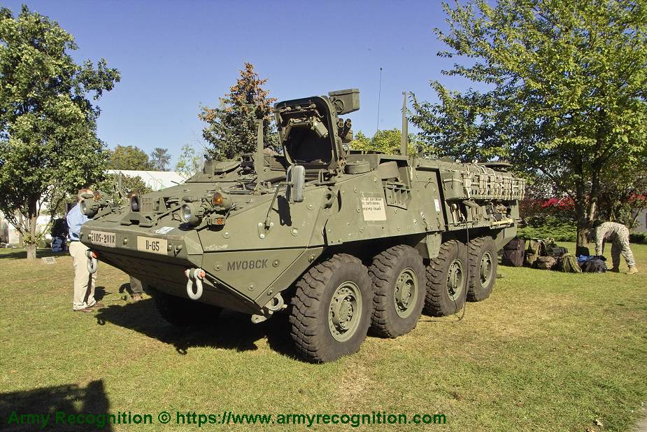 Stryker ICV M1126 8x8 APC Wheeled Armoured Vehicle infantry personnel carrier US Army United States 925 001