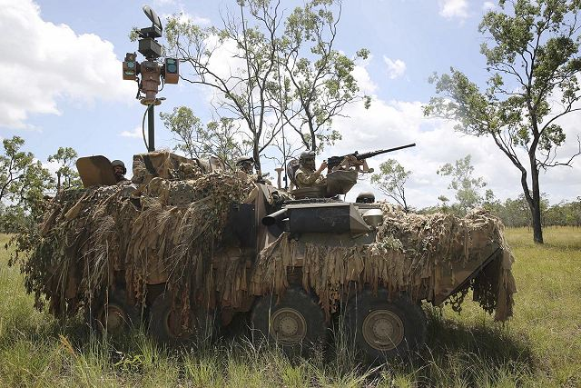 After rigorous testing, the new Australian Light Armoured Vehicle surveillance variant, ALSAV-S, has been shown to significantly improve Army's Cavalry operations. The new vehicles tested during Exercise Kosta River in late March 2014, conducted at the Shoalwater Bay Training Area.