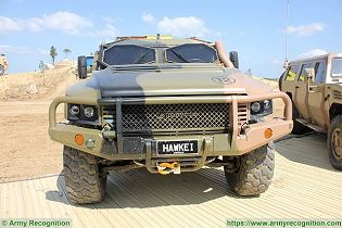 Hawkei PMV L 4x4 light wheeled high mobility protected vehicle Thales Australia Australian army front view 004