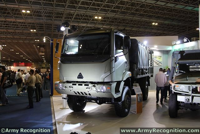 The new vehicle Agrale Marruá 41 AM arises to meet the Military Forces needs regarding to the transport of equipment, cargo and people on any ground - 5,000 Kg (load + trailer). Among the features of this new vehicle are: large suspension stroke, the cabin internal space, the engine of 165cv MWM and transfer case with double speed with activation on the panel.