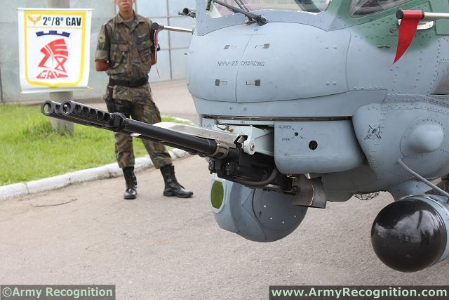 Main armament of AH-2 Sabre consists of a twin-barrel GSh-23V 23mm cannon mounted at the front of the helicopter. The AH-2 Sabre can be also armed with a variety of unguided rockets, Ataka anti-tank missiles, and Igla-V air-to-air missiles for anti-air and self-defence.
