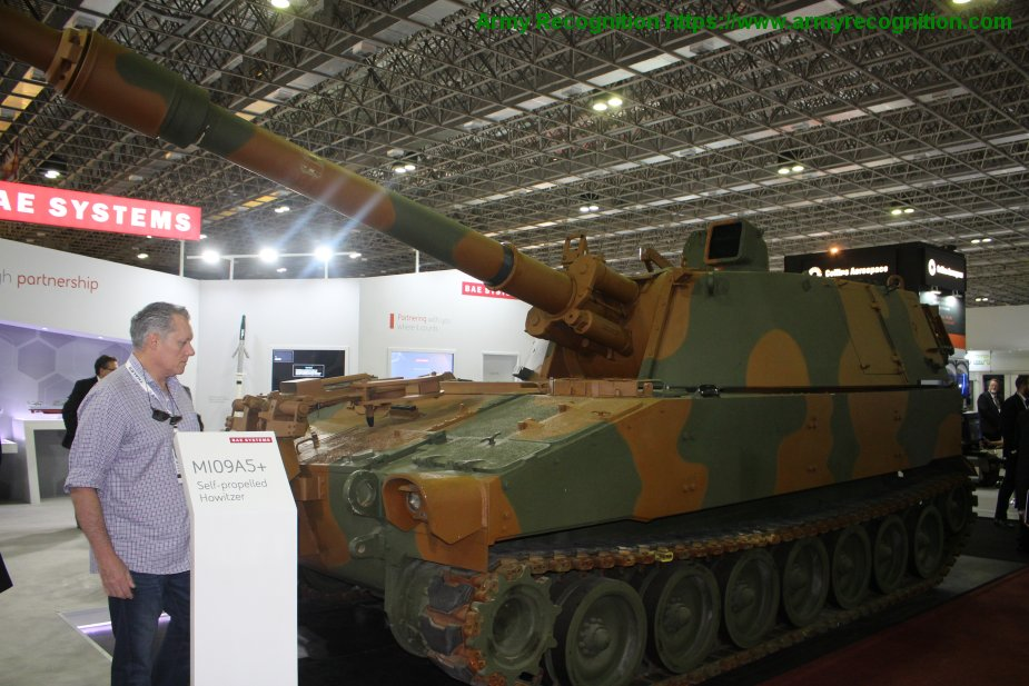 LAAD 2019 BAE Systems showcased its M109A5
