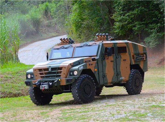 Tupi Avibras 4x4 multirole armoured vehicle technical data sheet description information intelligence pictures photos images identification Brazilian army brazil defense industry military technology