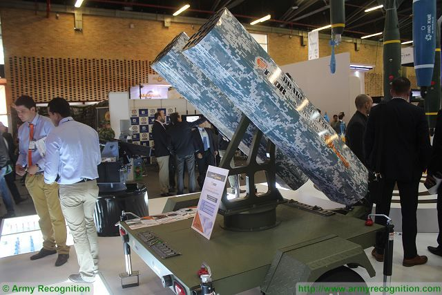 Colombian Defense Industry is now able to produce military equipment thanks to the engineering and technology developed locally. At ExpoDefensa 2015, the Colombian Company Thor unveils a mobile rocket artillery Station under the name of Drakon 70/12H.