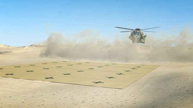 French company Musthane is presenting its smart Helicopter Landing Mat at Expodefensa 2015 640 002