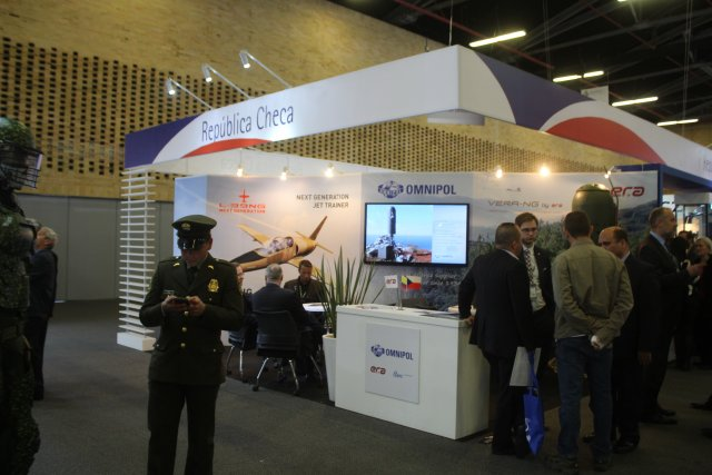 L39NG aircraft is currently showcased at OMNIPOLs stand during Expodefensa in Bogota 640 001