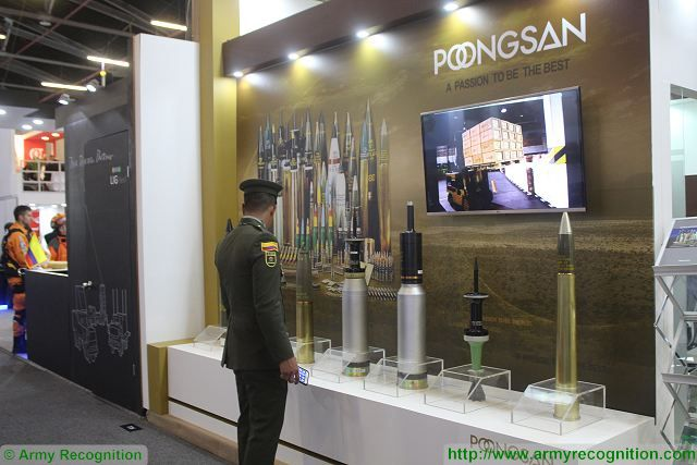 Poongsan ammunitions projectiles ExpoDefensa 2015 International Exhibition of Defense and Security in Colombia 640 001