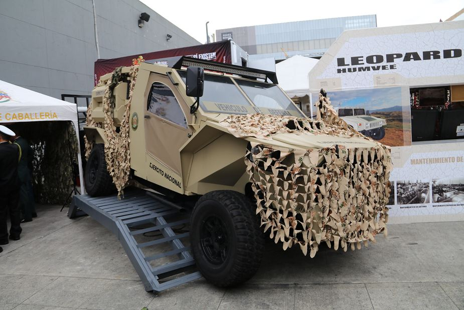 Colombian made Cobra 4x4 light tactical vehicle at ExpoDefensa 2017 defense exhibition Bogota Colombia 925 001