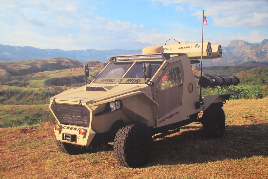 Colombian made Cobra 4x4 light tactical vehicle at ExpoDefensa 2017 defense exhibition Bogota Colombia 925 002