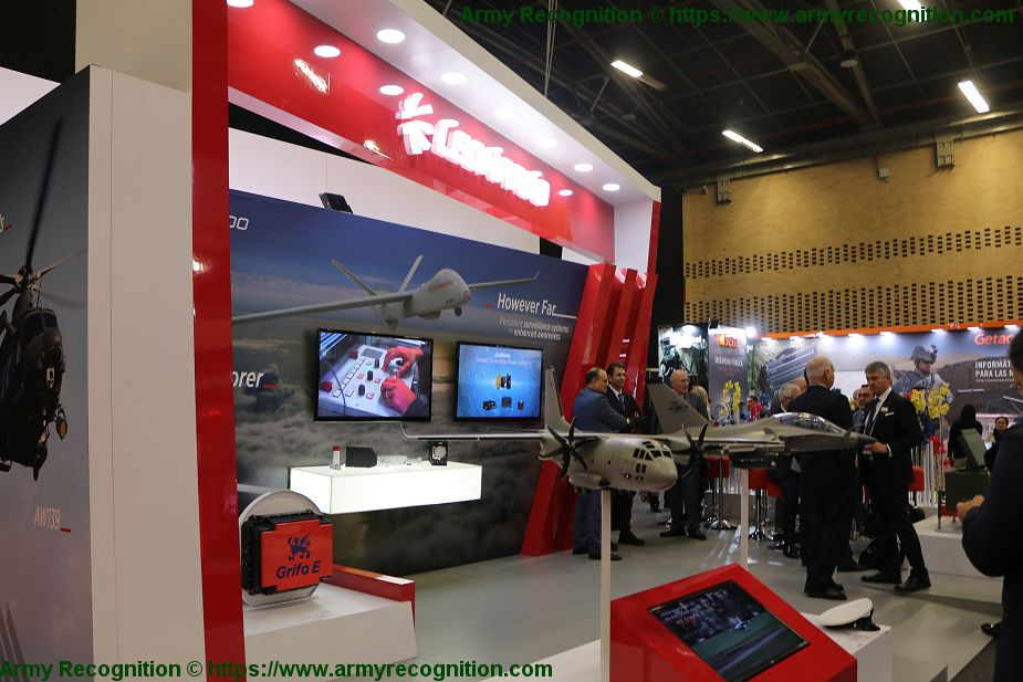 Leonardo showcases its full range of defense products in the fields of Land Air Navy ExpoDefena 2019 925 001