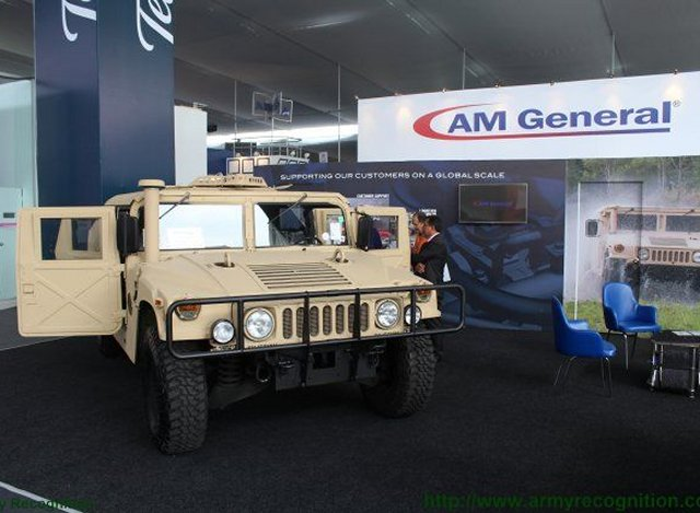 SITDEF 2015 AM General LLC presents Peru HUMVEE M1151A1 tactical vehicle 640 001