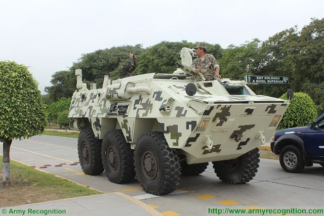 At SIDEF 2015, the International Defense Technology Exhibition and Prevention of Natural Disasters, General Dynamics Land Systems presents the latest generation of LAV-II amphibious ( Light Armoured Vehicle) which was recently purchased by the Naval Infantry of the Peruvian Navy.