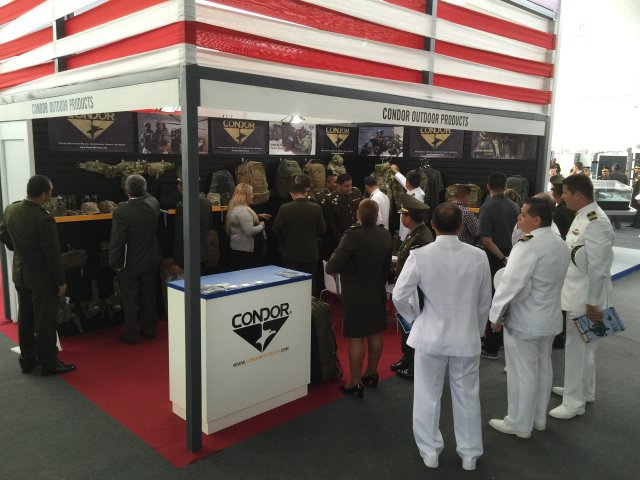 Condor Outdoor Products military tactical gear SITDEF 2015 International Defense Exhibition Lima Peru 001