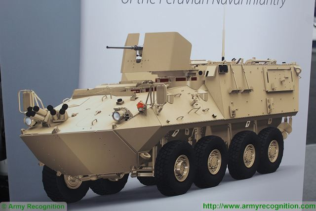 LAV-II 8x8 amphibious armoured vehicle SITDEF 2015 International Defense Exhibition Lima Peru 001