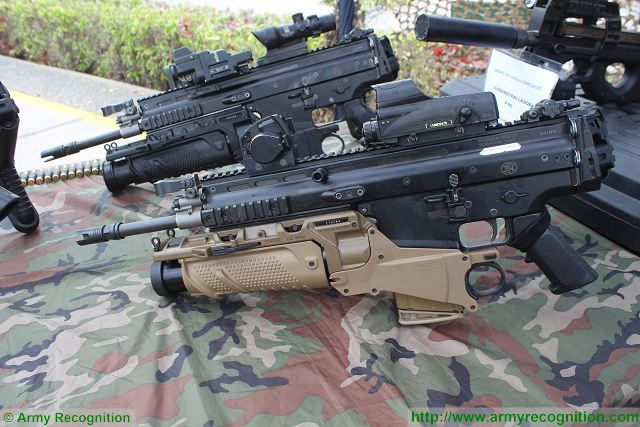 SCAR FN Herstal SITDEF 2015 International Defense Exhibition Lima Peru 001