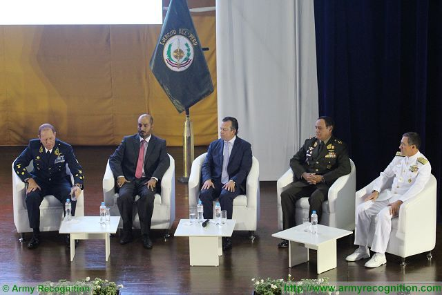 Today, opening of the International Defense Technology exhibition & Prevention of Natural Disasters SITDEF 2015 which takes place to the headquarters of the Peruvian Army in Lima from 14 to 17 May 2015, under the patronage of the Peruvian Ministry of Defense