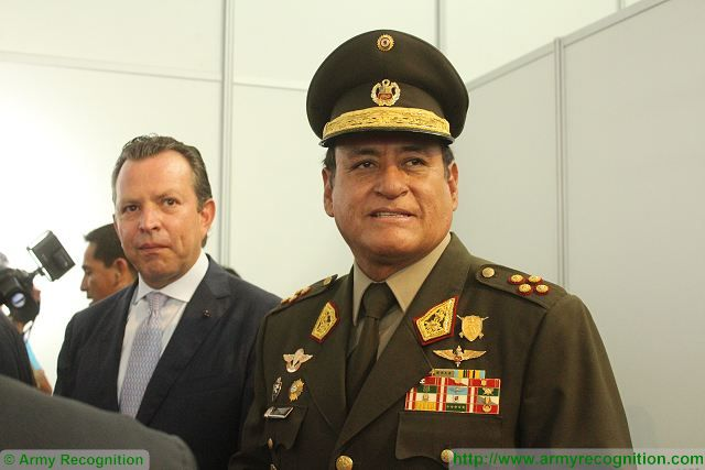 Today opening of SITDEF 2015 International Defense Exhibition in Peru Peruvian Army Commander Ronald Hurtado Jimene 640 001