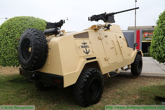 At SITDEF 2017, Naval Infantry Force of Peruvian navy presents its new RAM Mk3 light multi-mission armoured vehicle. According the SIPRI (Stockholm International Peace Research Institute), IAI (Israel Aerospace Industries) has delivered in 2016 seven RAM Mk3 to Peru.