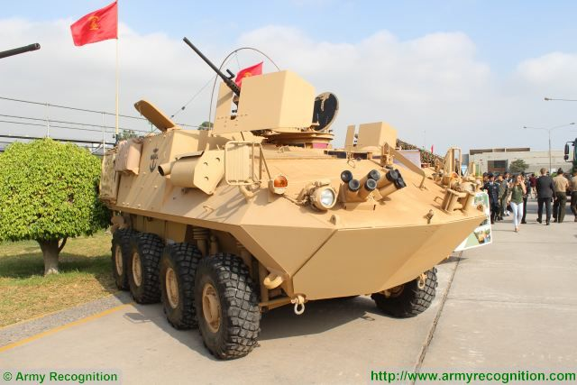 The LAV II produced by General Dynamics Land Systems is now in service with Peruvian Naval Infantry, the vehicle is displayed at SITDEF 2017, the International Defense Exhibition in Lima, Peru. In May 2015, General Dynamics has delivered first of 32 LAV II 8x8 amphibious vehicles to Peru.