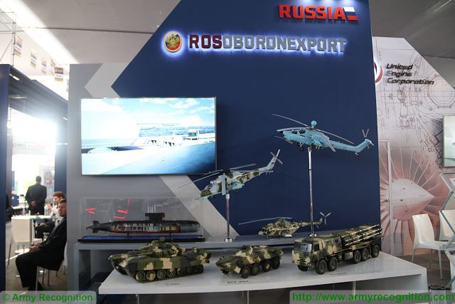 At SIDEF 2017, the International Defense Exhibition in Peru, Russian arms exporter Rosoboronexport display weapons and military equipment engaged by the Russian air force in counter-terrorist operation in Syria. Peru has launched a tender for the purchase of 8x8 armoured vehicles for its armed forces.