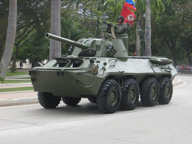 The army of Venezuela has become one of the best customers for the Russian defense industry. During the last military parade which commemorates the 20th anniversary of the failed coup attempt by President Hugo Chavez in Caracas, the Russian made self-propelled mortar vehicle 2S23 Nona was shown for the first time.