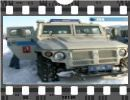 Russian special police drove combat vehicles outside Moscow, ripping through snow-drifts and performing breath-taking stunts. The exercise lasted several hours and involved five BTR-80 armored personnel carriers and three Tigr (Tiger) wheeled armored vehicles.