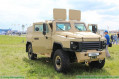 At MAKS 2017, the AirShow in Russia, Russian defense industry unveils a new 4x4 armoured vehicle called Buran, the vehicle has a new design compared to standard wheeled armoured vehicle with three doors on each side of the hull.