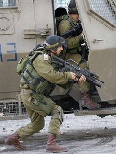 Israeli army soldier in
